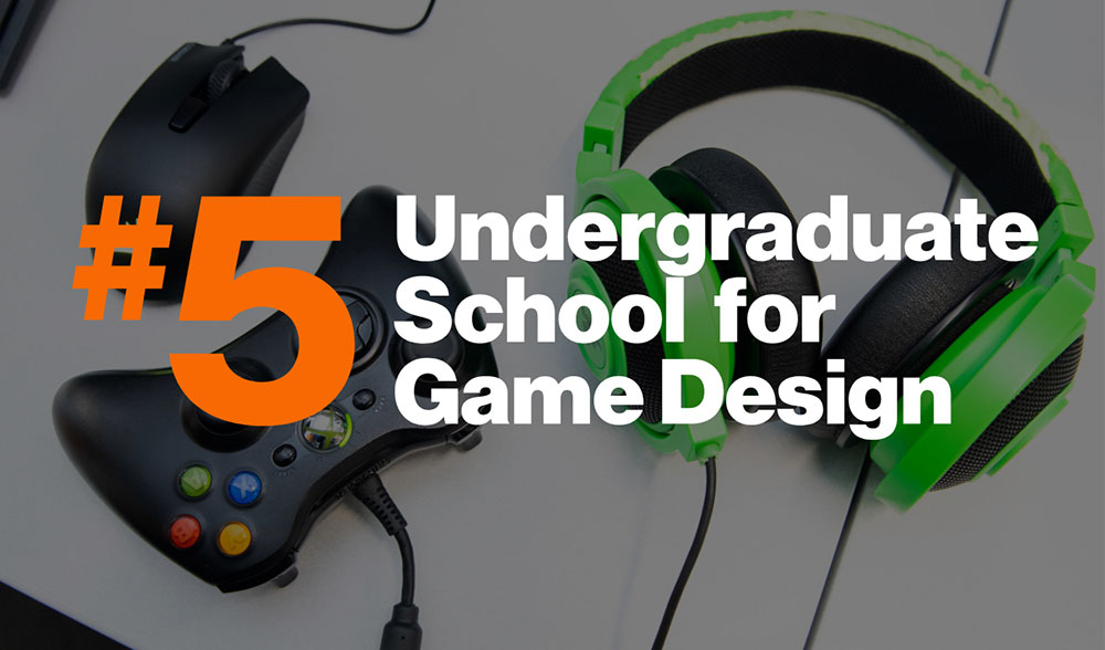 Number 5 school for game design graphic