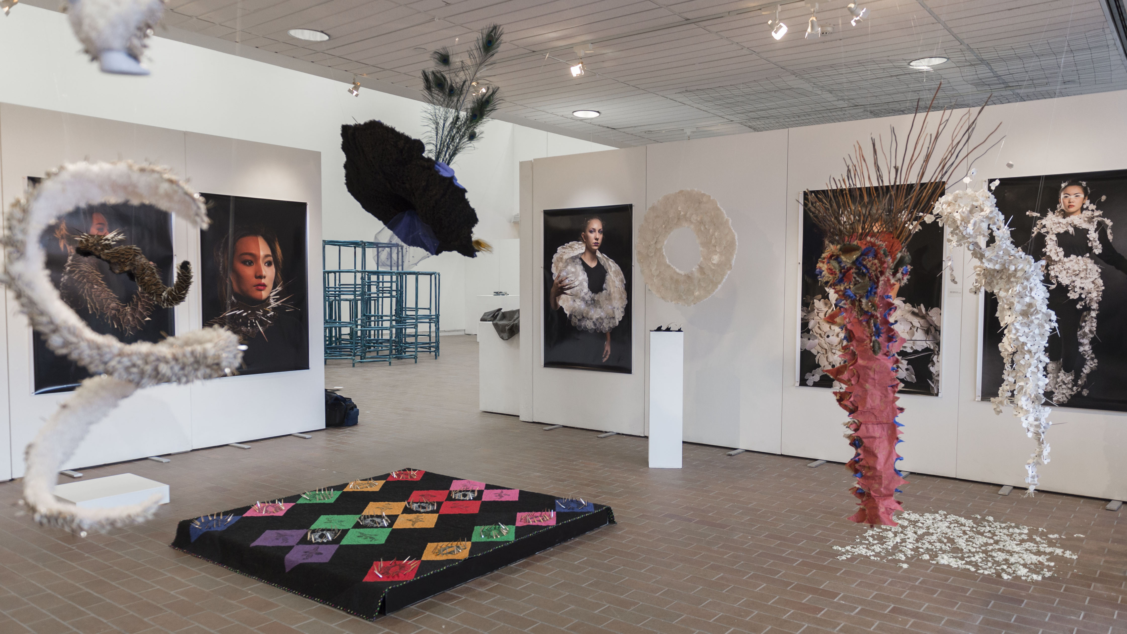 Displayed works in a 2018 exhibition in Bevier Gallery.