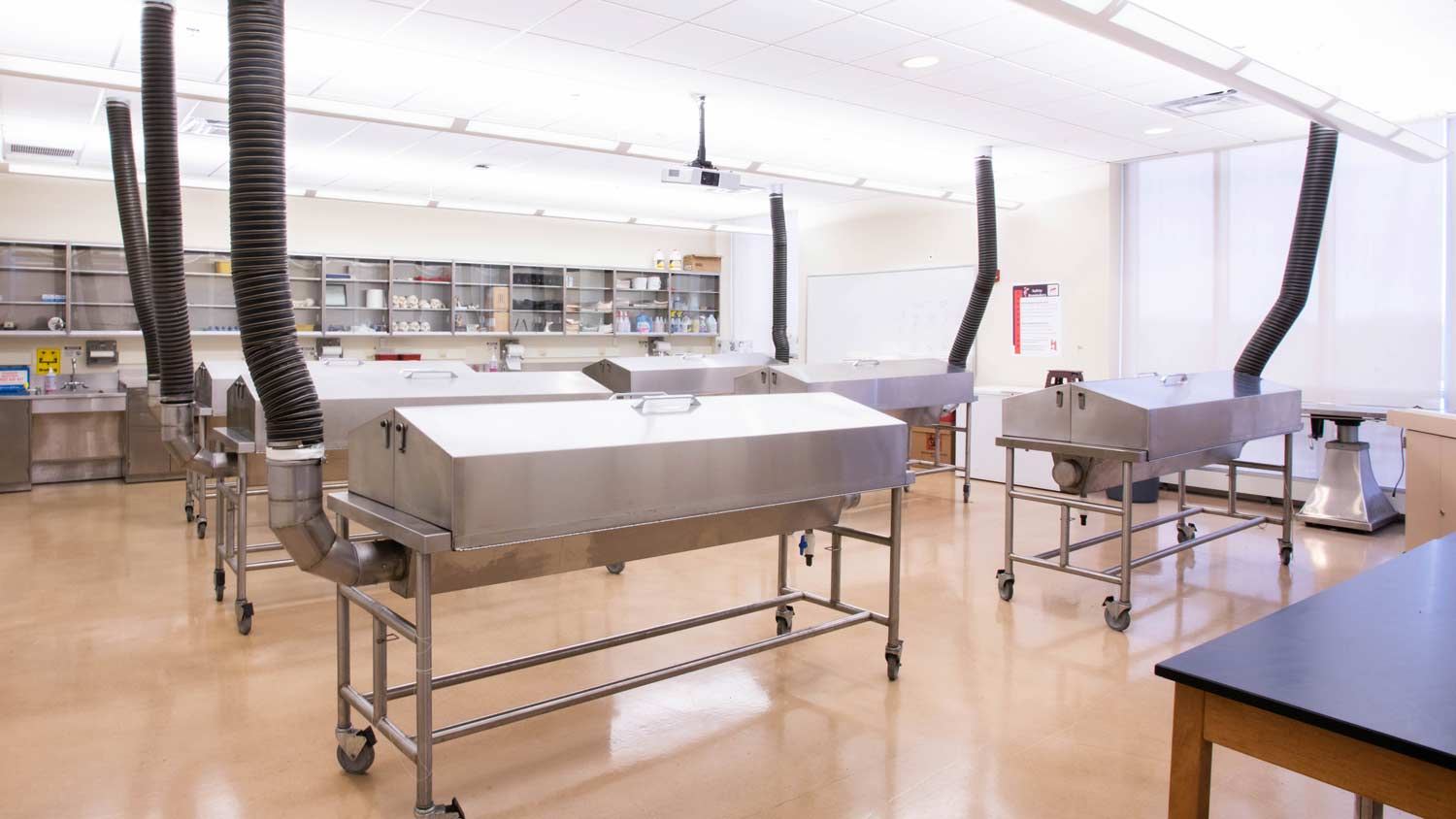 Cadaver lab with 6 tables