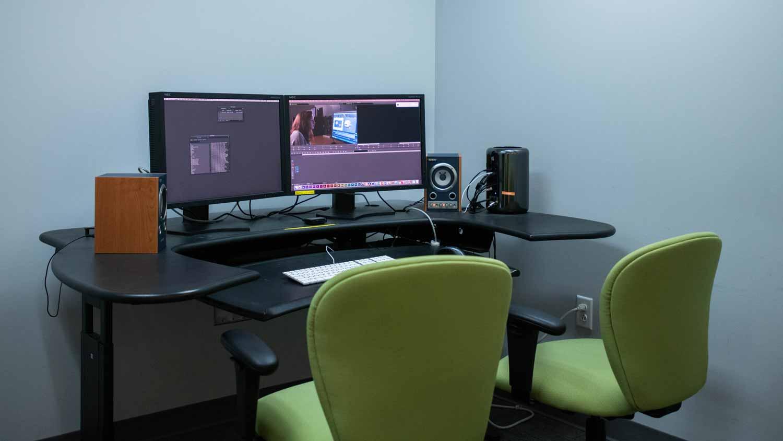 Dual monitor editing station