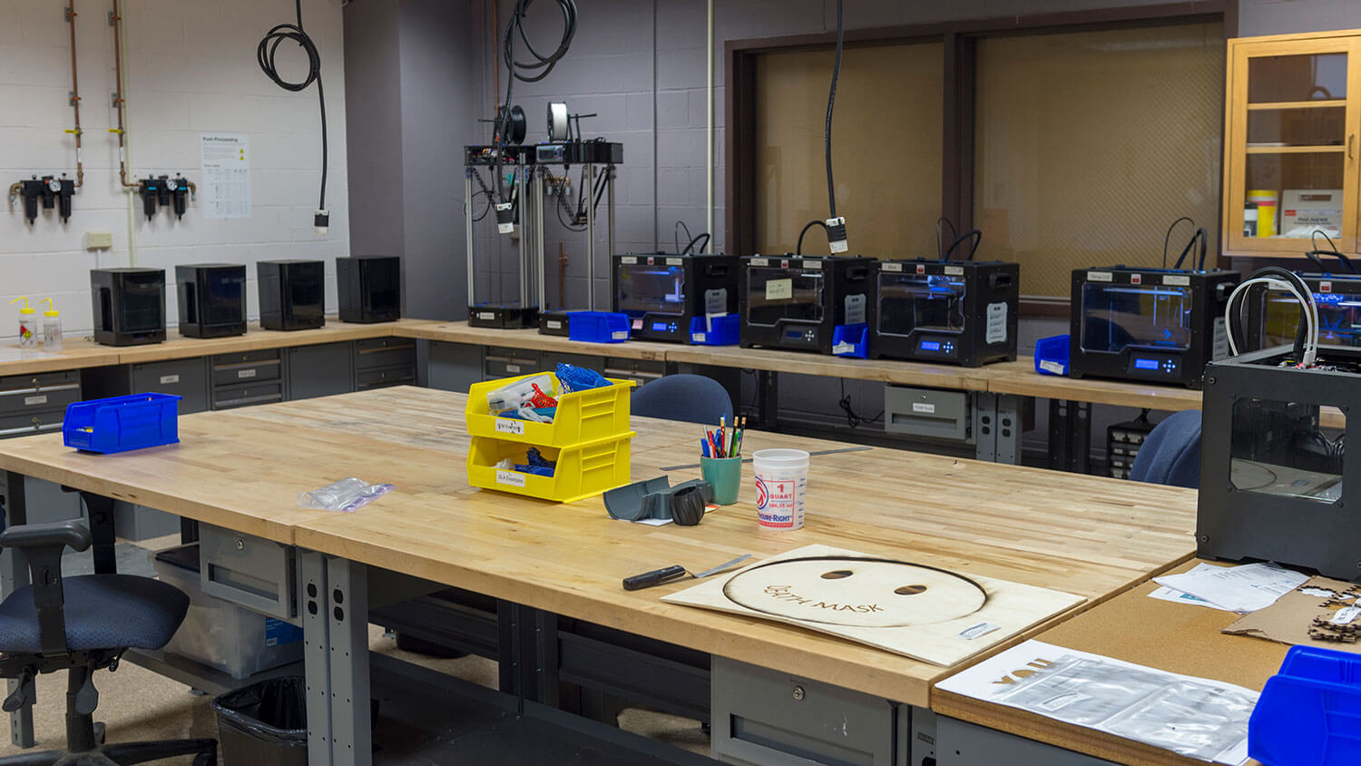 A look at some of the 3D printing equipment in our Fab Lab.