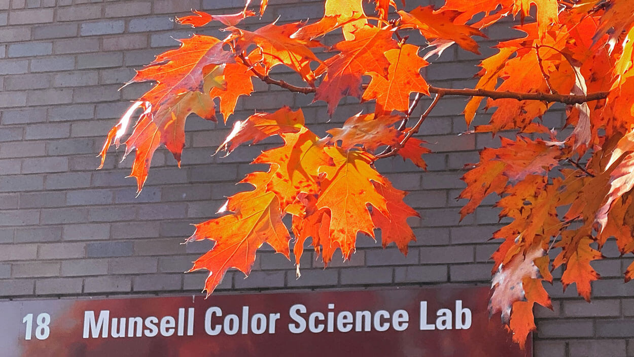 Exterior of the Munsell Color Science Lab.