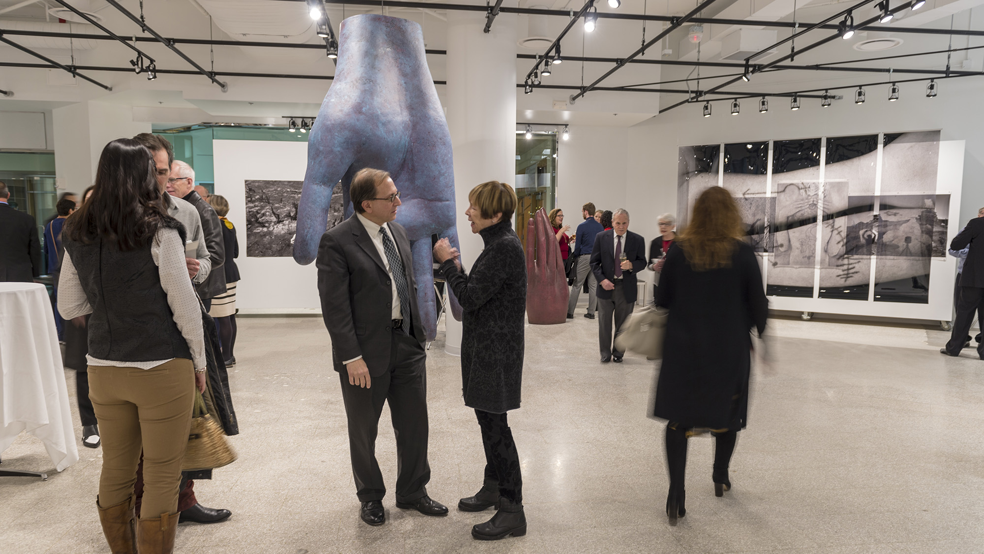 RIT City Art Space's debut exhibition featured the work of College of Art and Design faculty Len Urso and Willie Osterman.