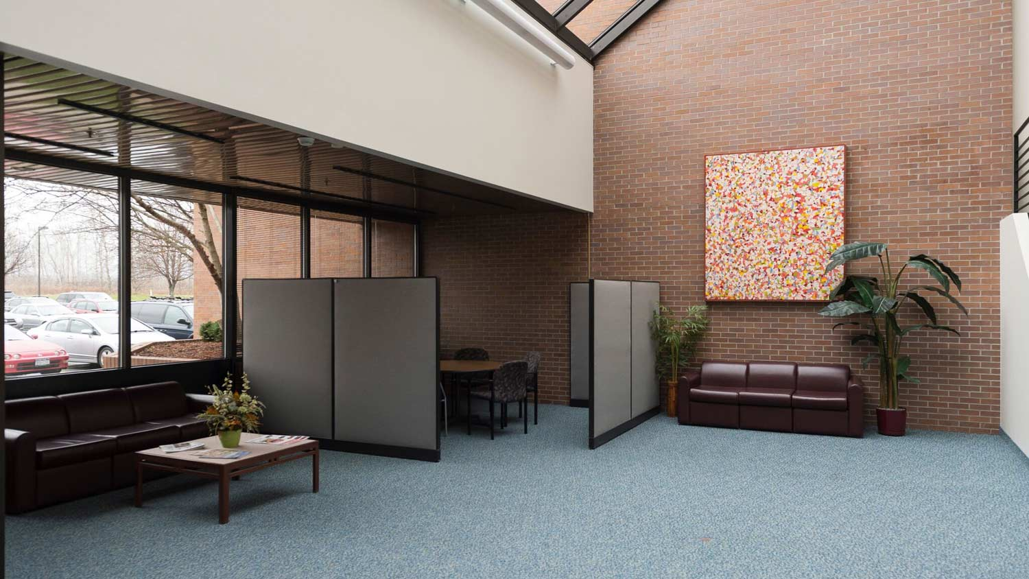 Carpeted waiting room