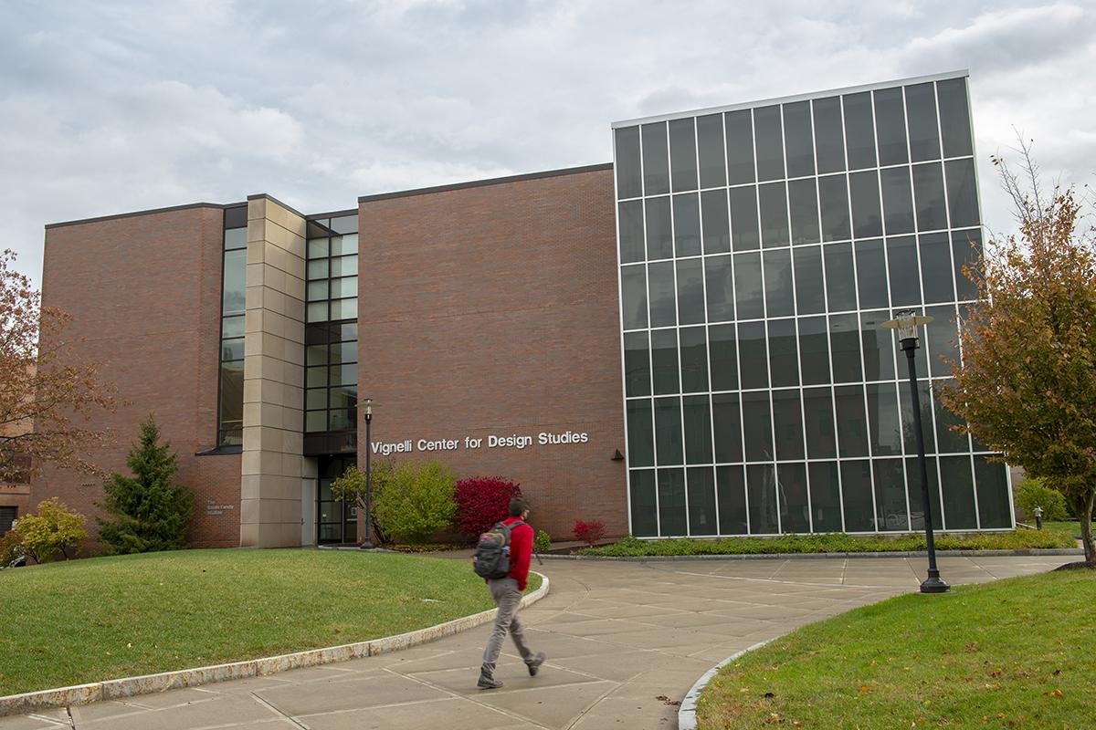An exterior shot of the Vignelli Center for Design Studies.