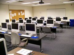 Computer lab with iMacs