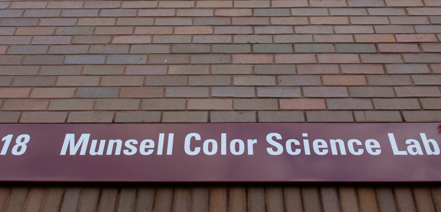 munsell color science lab sign