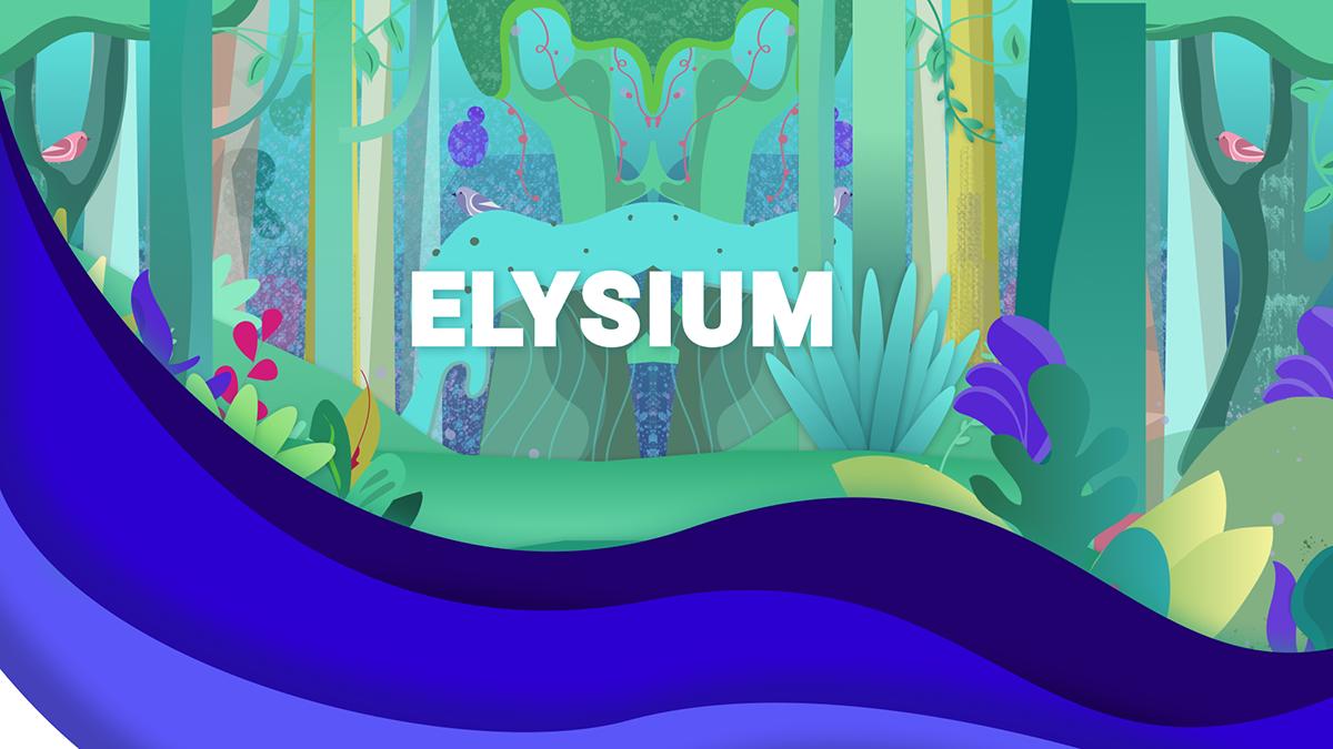 A title slide for Elysium.
