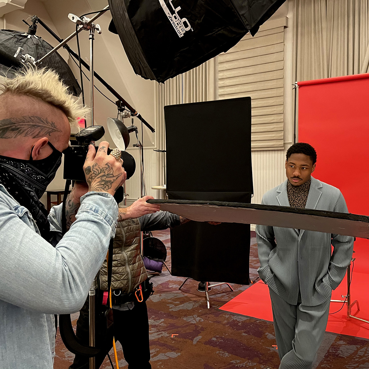 Editorial and commercial photographer Clay Patrick McBride photographs Stefon Diggs.