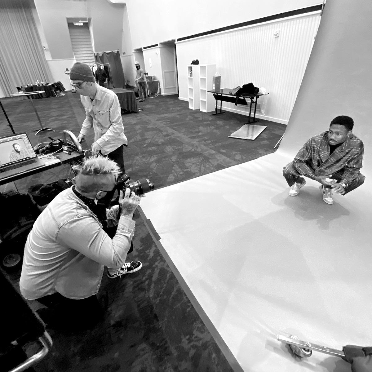 Editorial and commercial photographer Clay Patrick McBride photographs Stefon Diggs for ESPN.