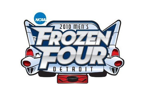 logo for 2010 men's frozen four game in Detriot.