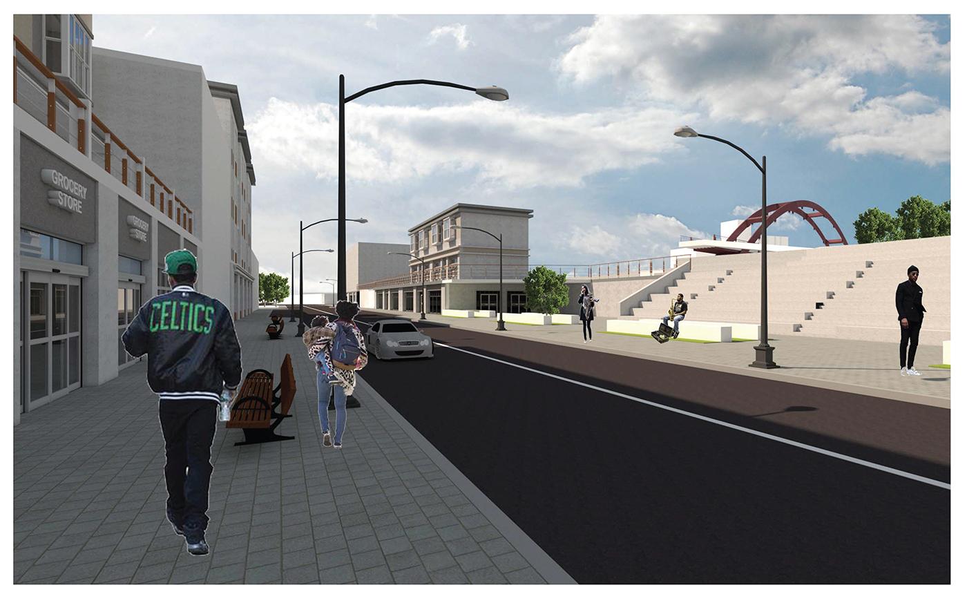 Central Avenue Gateway - 3d view