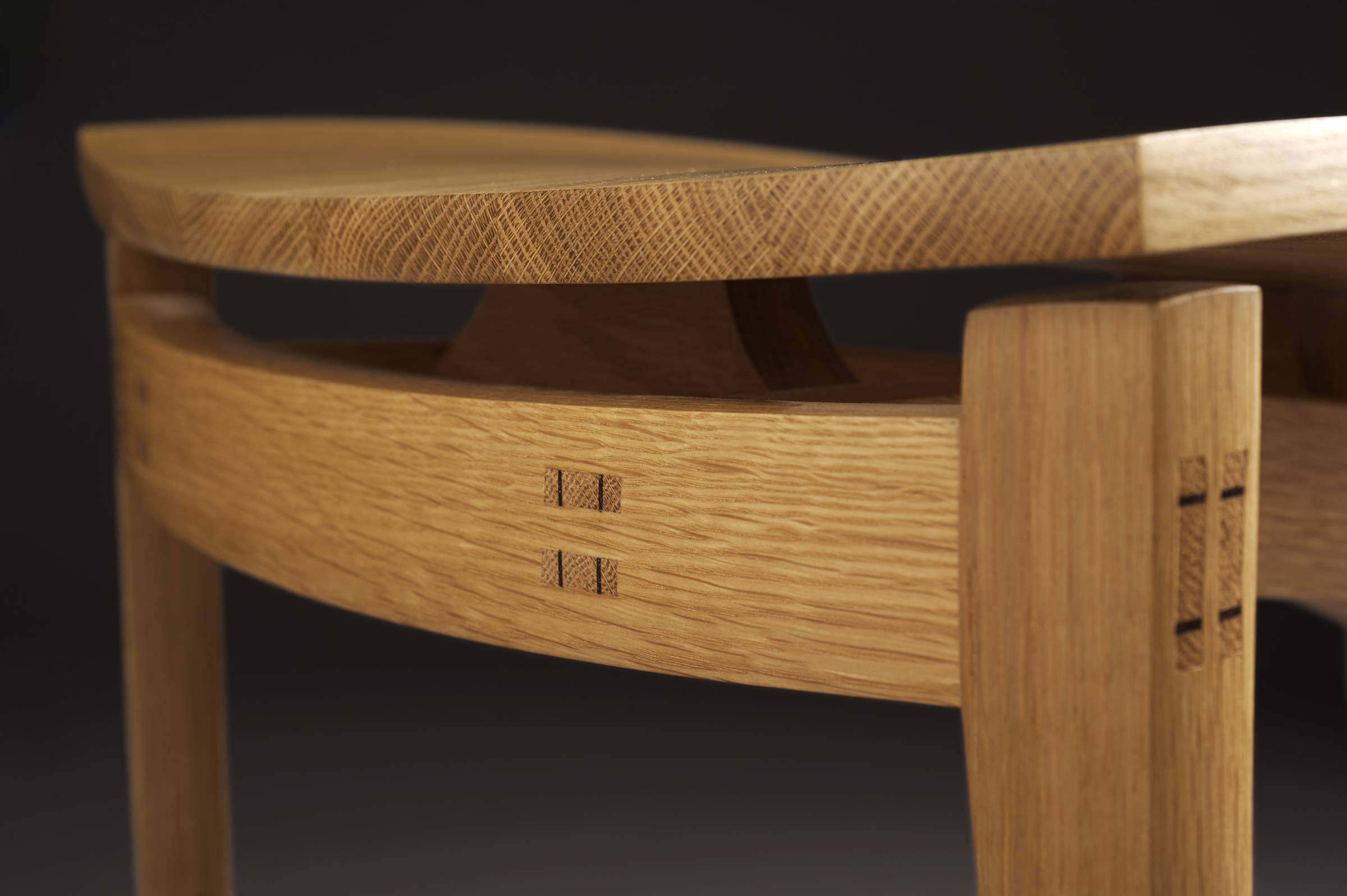 Close up of a wooden chair
