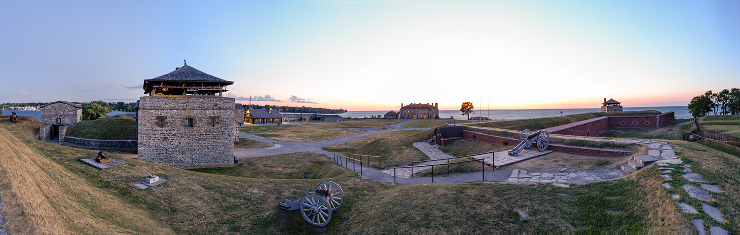 Old Fort Niagara with canon in foreground.