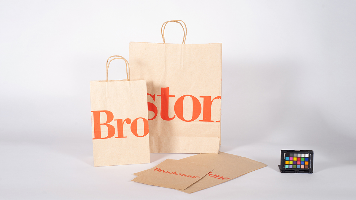 Brookstone shopping bags for the Vignelli digital image archive.