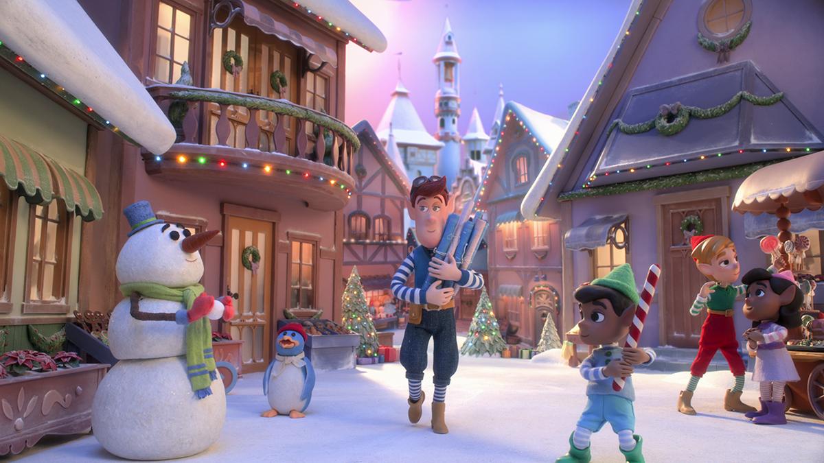 An animated Christmas village.