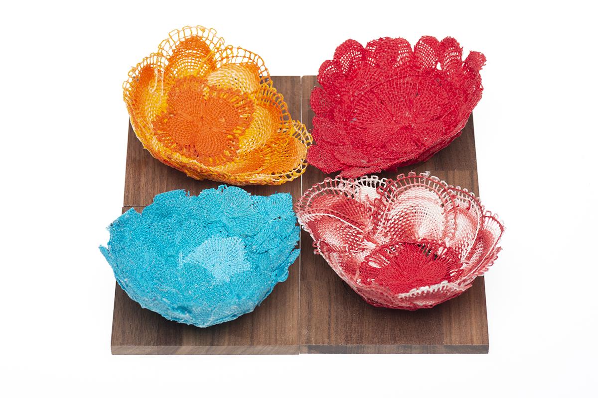 Colorful textile concepts designed by Andrea Gonzalez Esteche as part of her thesis project.
