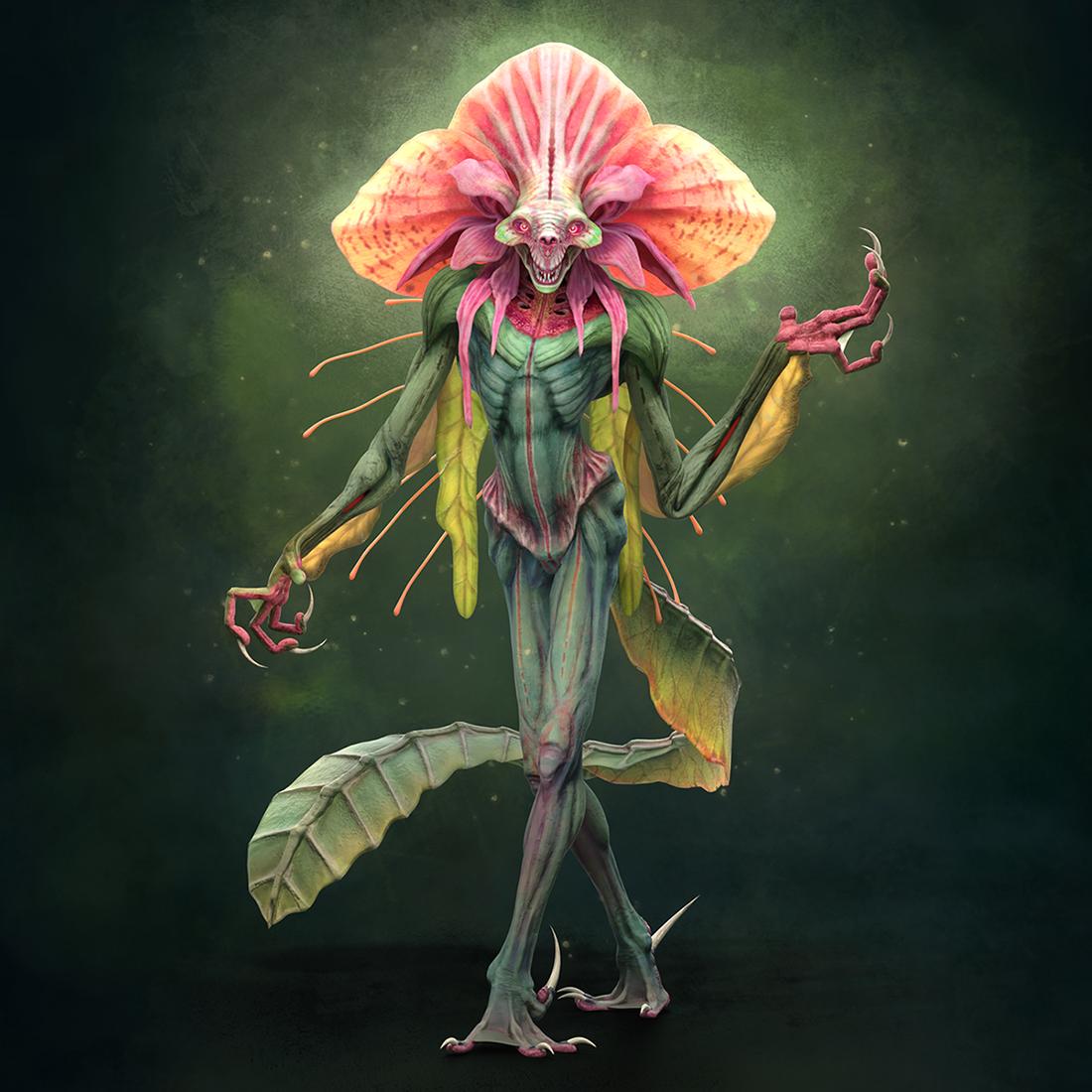 A lizard-like character designed by Noah Mesh.