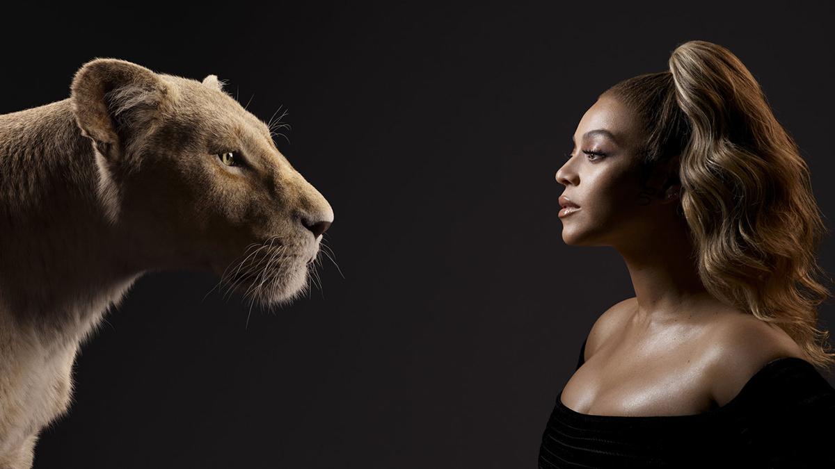 Beyonce and her character Nala