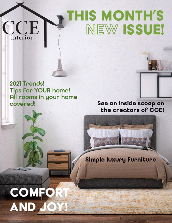 magazine cover for CCE Interior.
