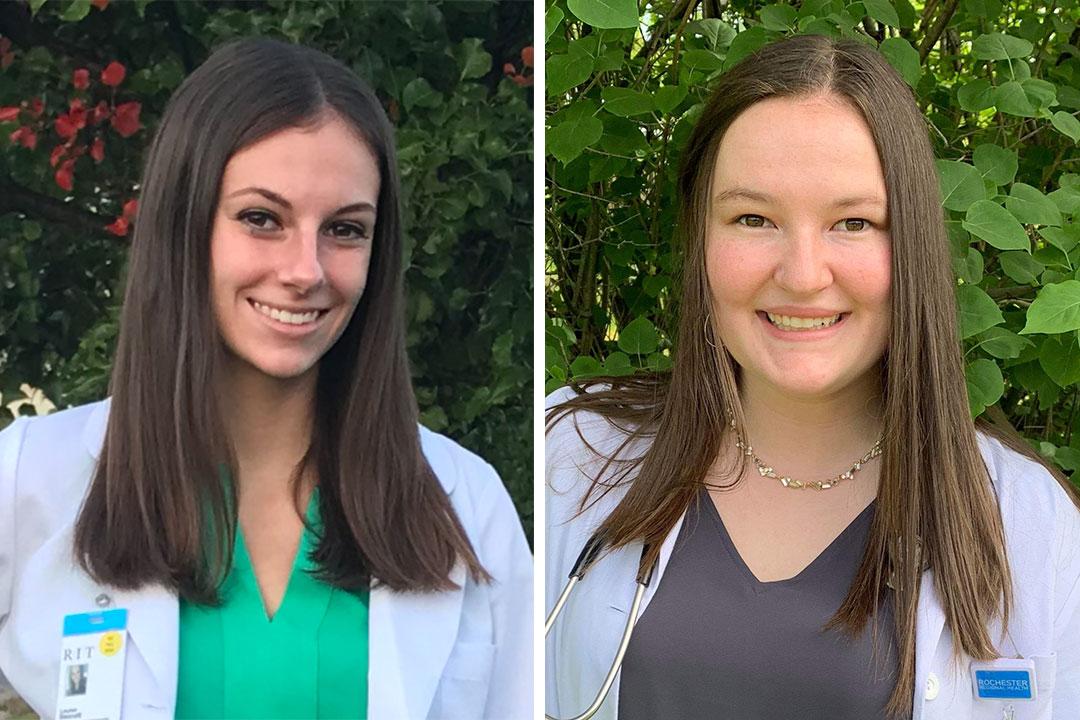 portraits of Lauren Bennett and Julia Wuest.
