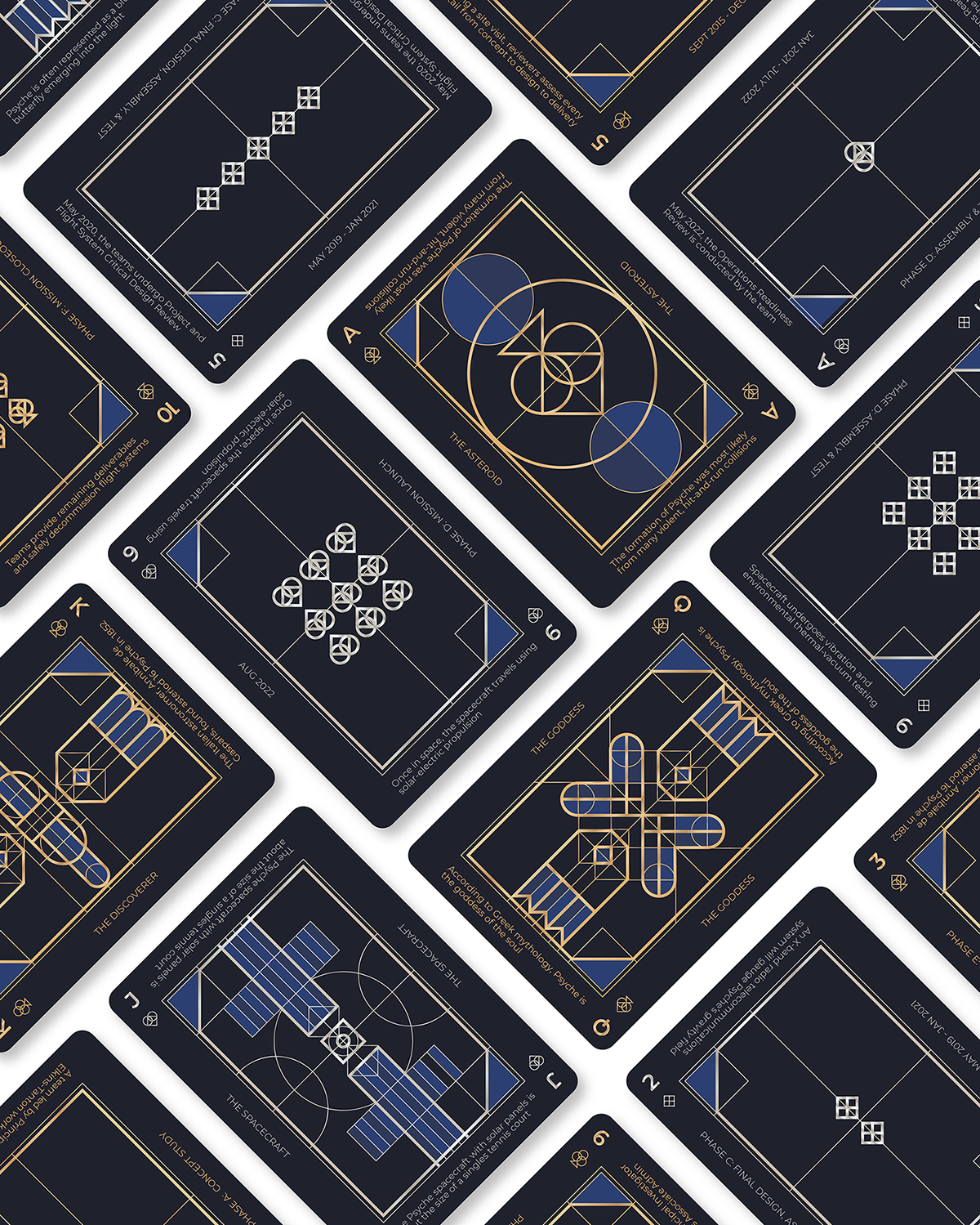 Space-themed playing cards.