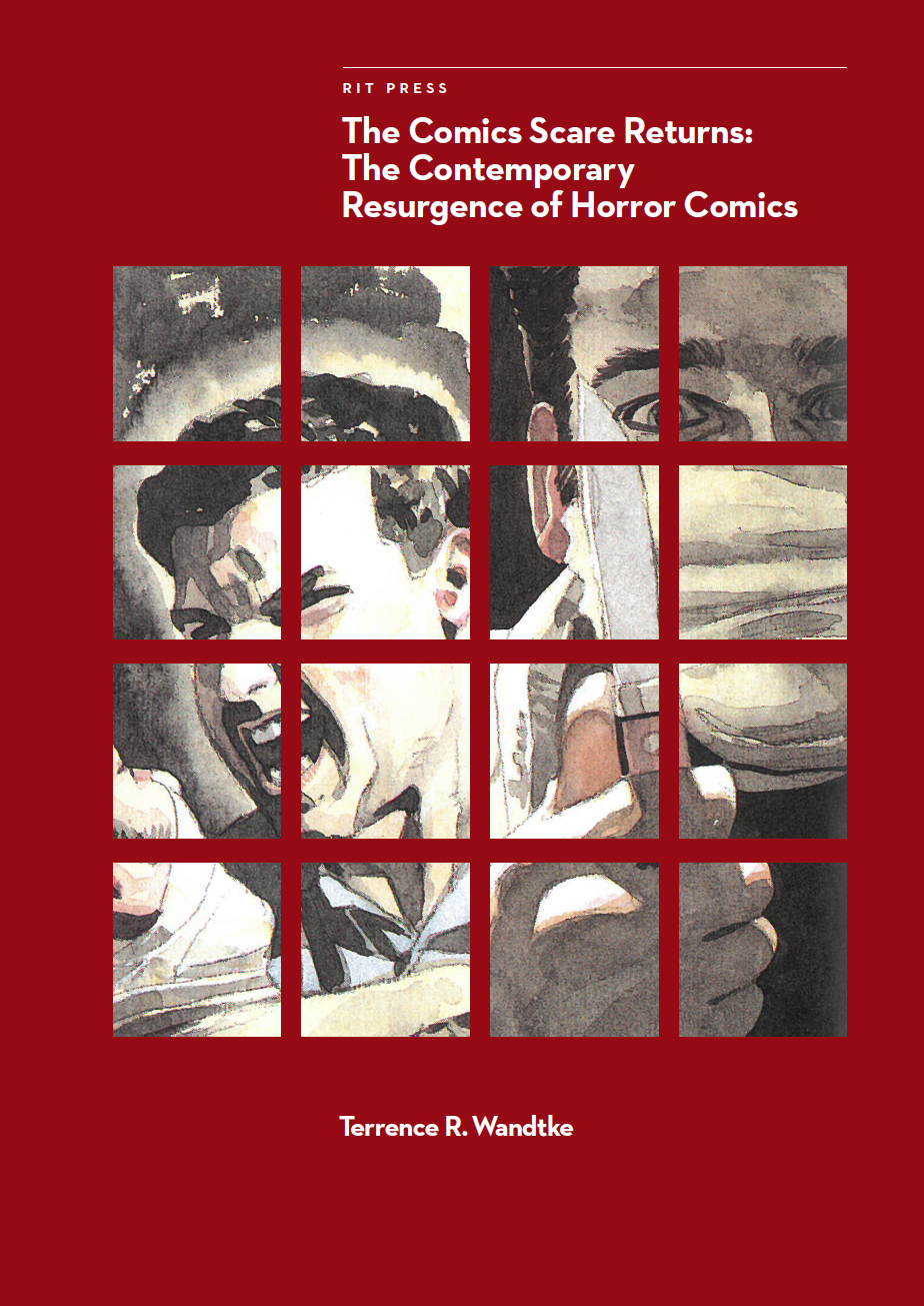 red book cover that reads: The Comics Scare Returns: The Contemporary Resurgence of Horror Comics