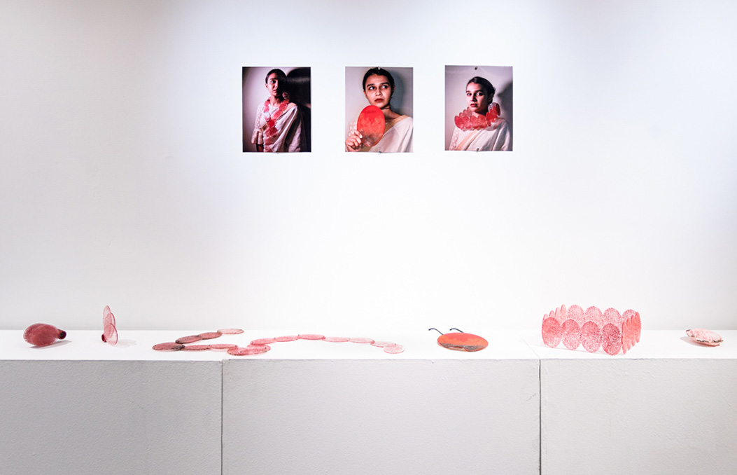 An installation view of Drishti's thesis work.