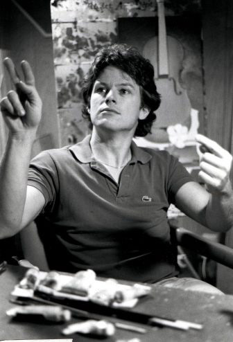 portrait of Deaf artist Harry Williams.