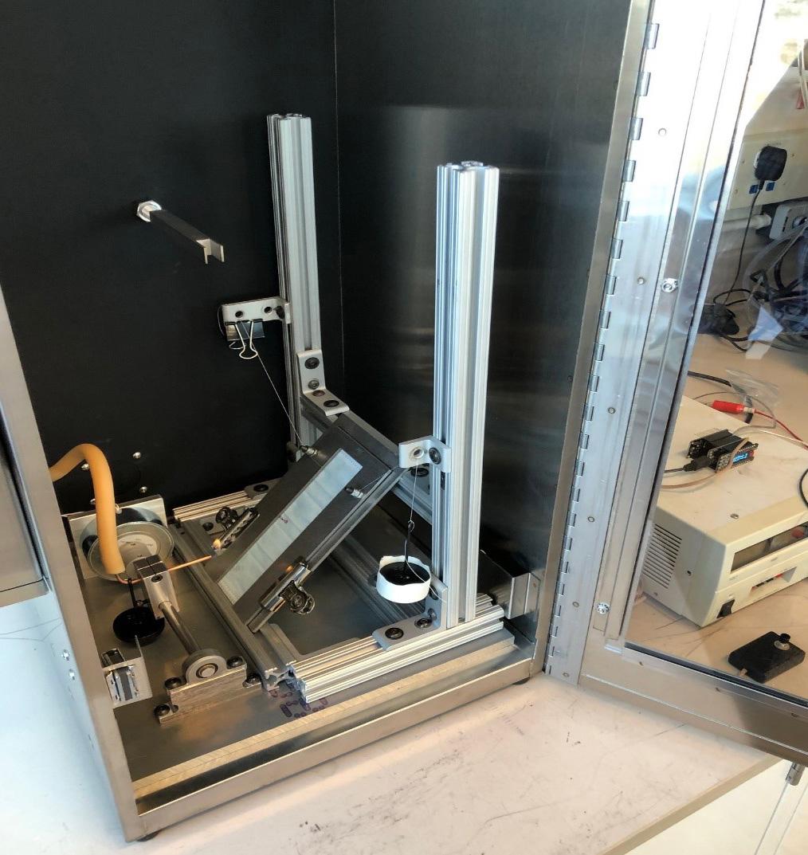 Flammability test setup