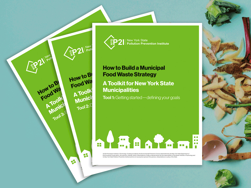 cover of the guide: How to Build a Municipal Food Waste Strategy.
