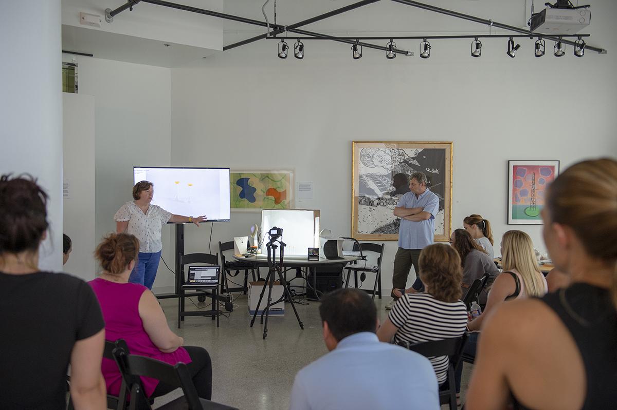 Nanette Salvaggio and Bob Rose teach a workshop