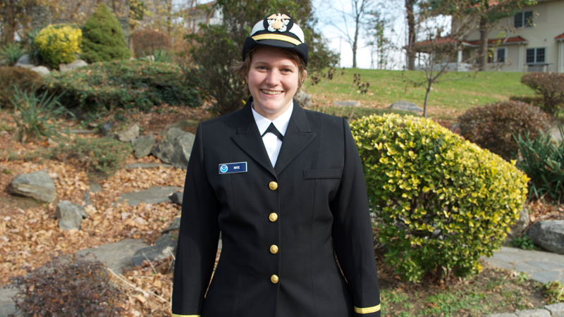 Heather Moe in her uniform