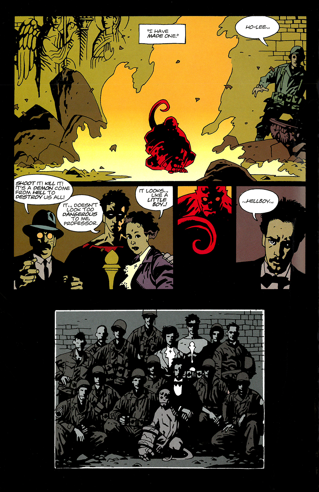 page from comic Hellboy: Seed of Destruction