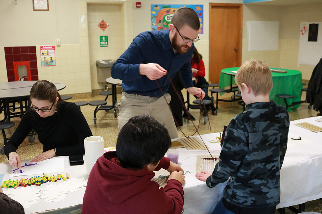 Students work with area youth
