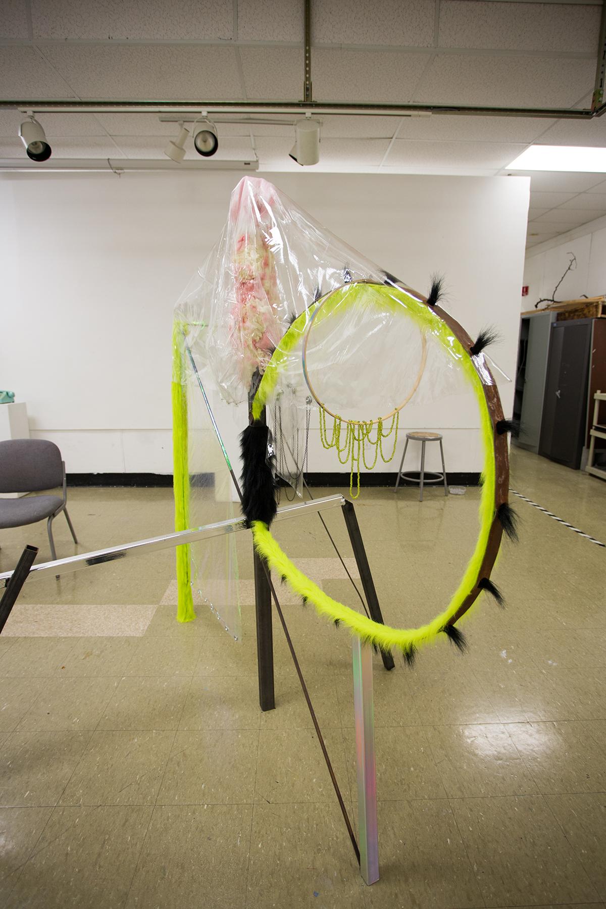 An installation piece as part of a fall 2017 critique