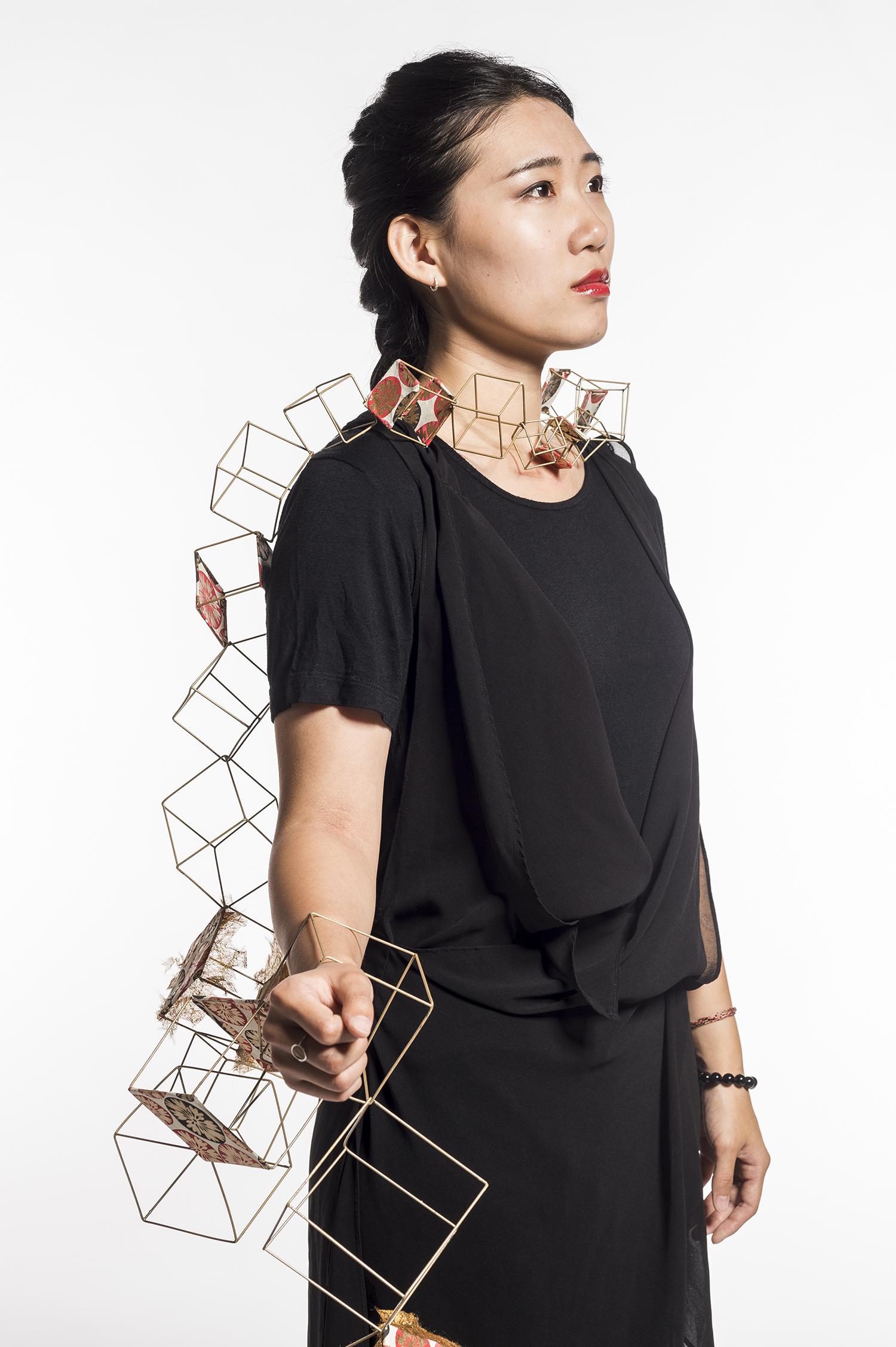 Wearable sculpture by Kerina Mangiaracina