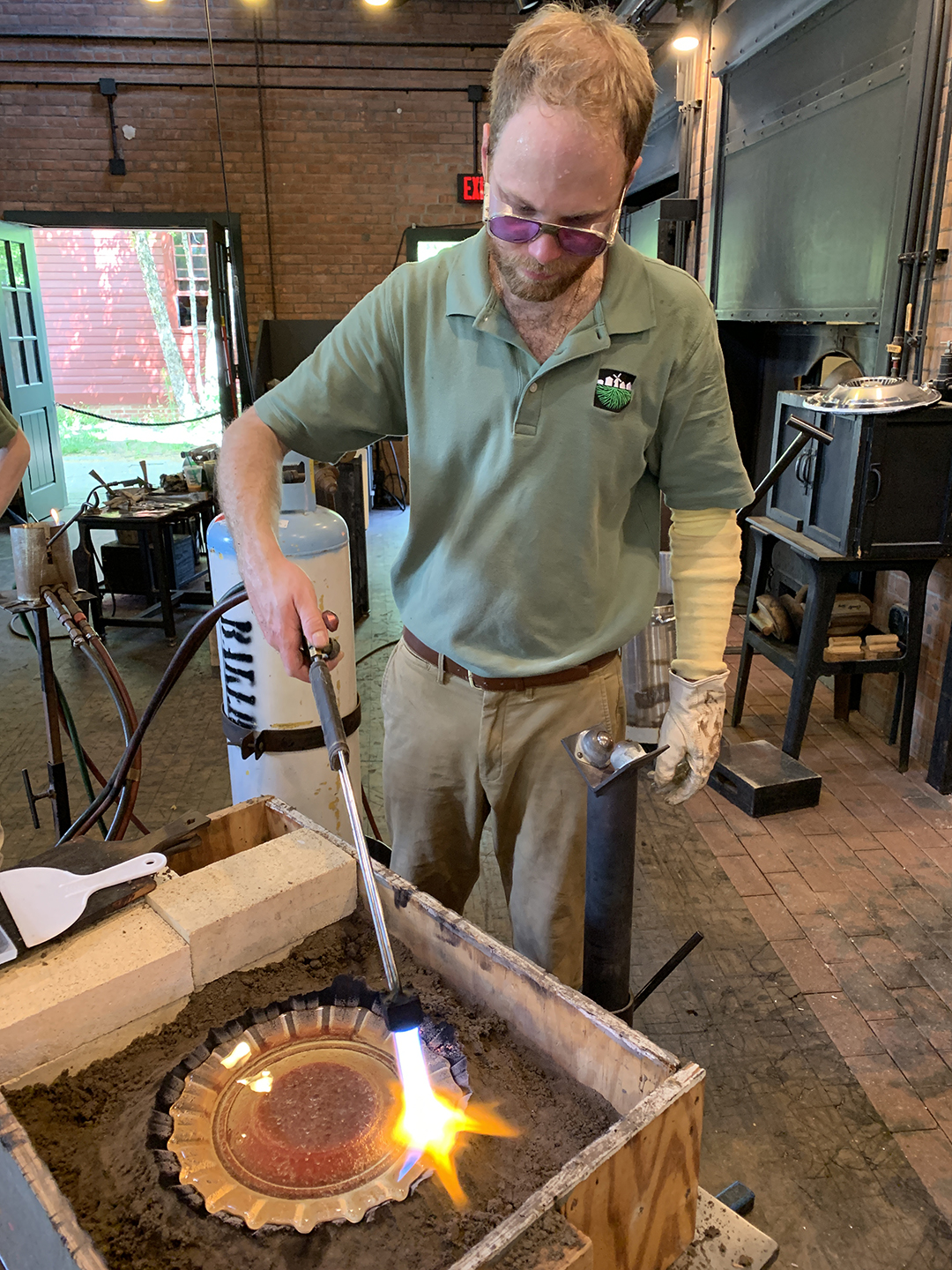 Andy Koupal works in the Henry Ford Museum's hot shop