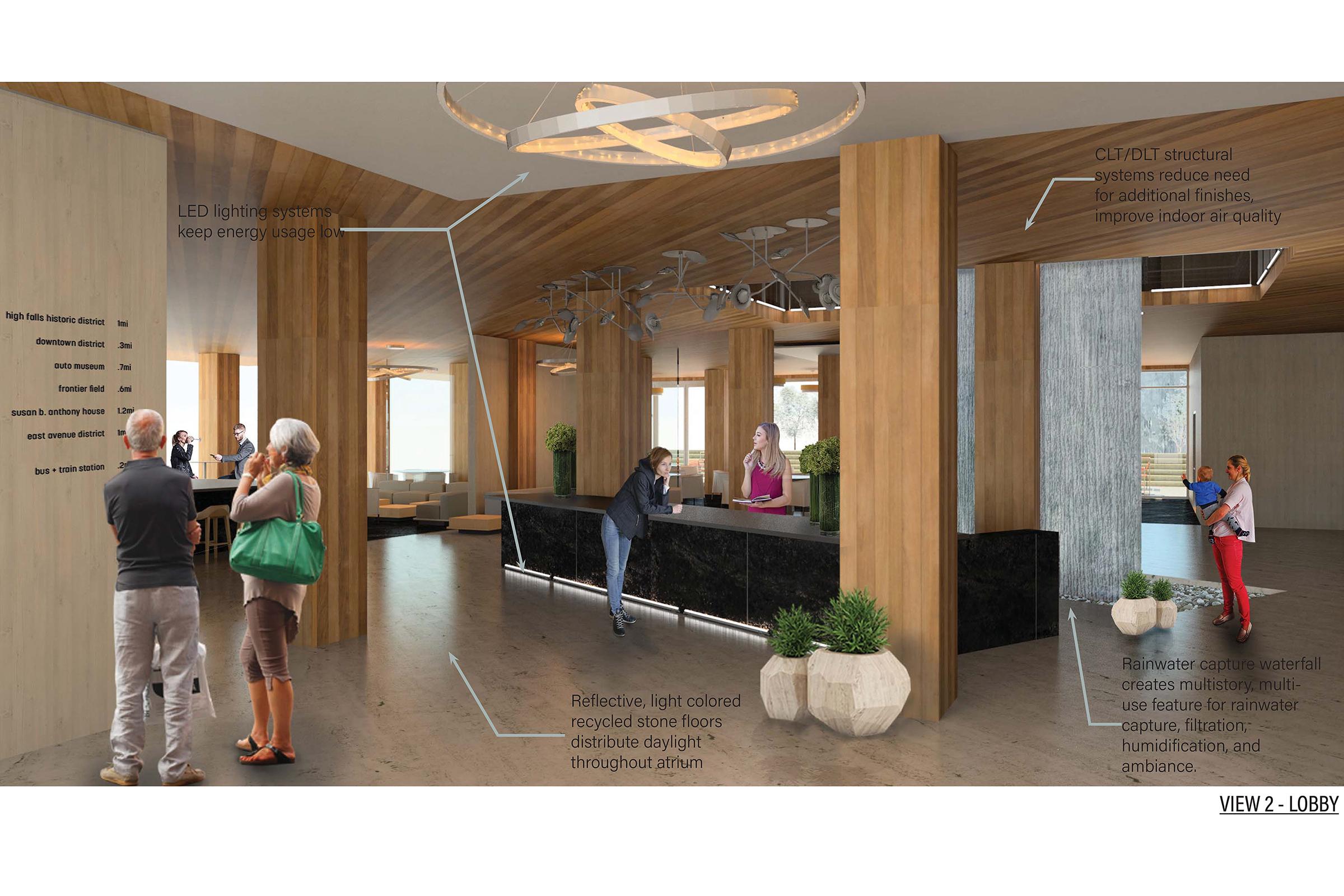 Domus Aqua Inn & Suites design - lobby