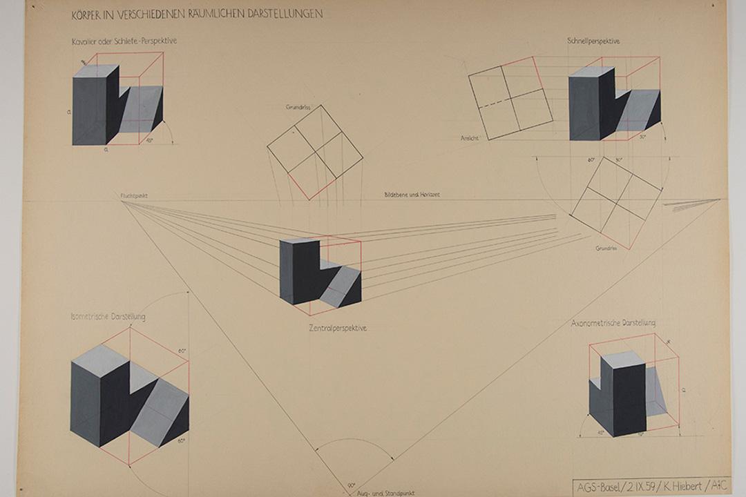 Geometric shapes drawn on paper