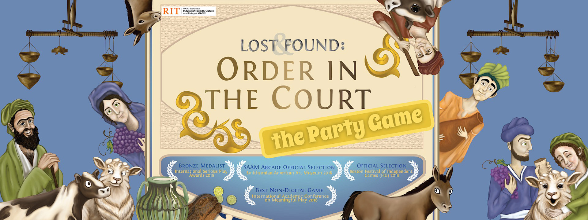 Cover of the game Lost & Found: Order in the Court - the Party Game