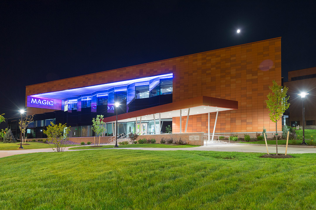 exterior of RIT's MAGIC Center building.