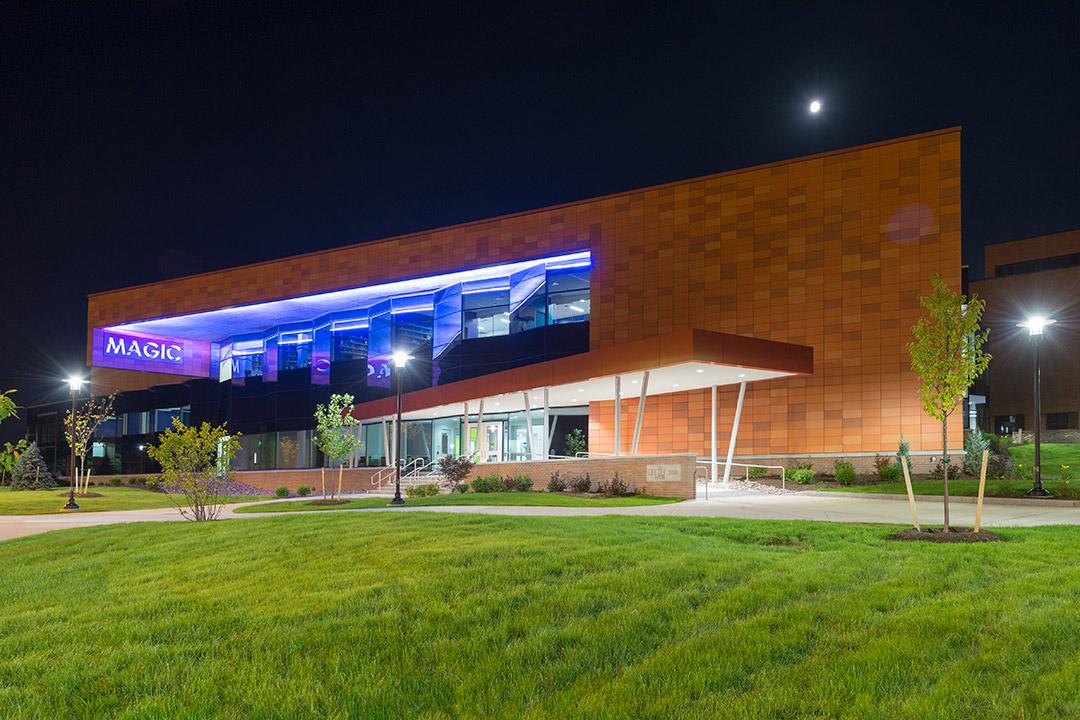 exterior of RIT's MAGIC Center building.