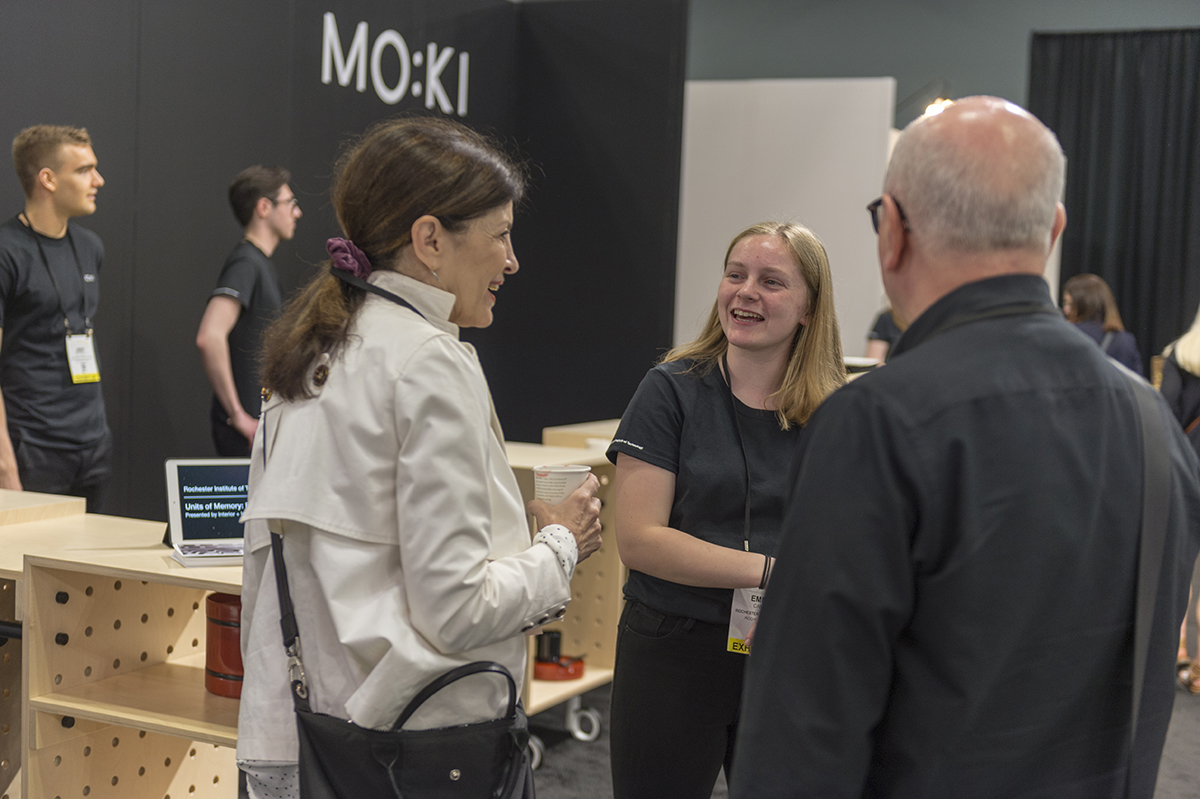 Emma Canny chats with ICFF guests