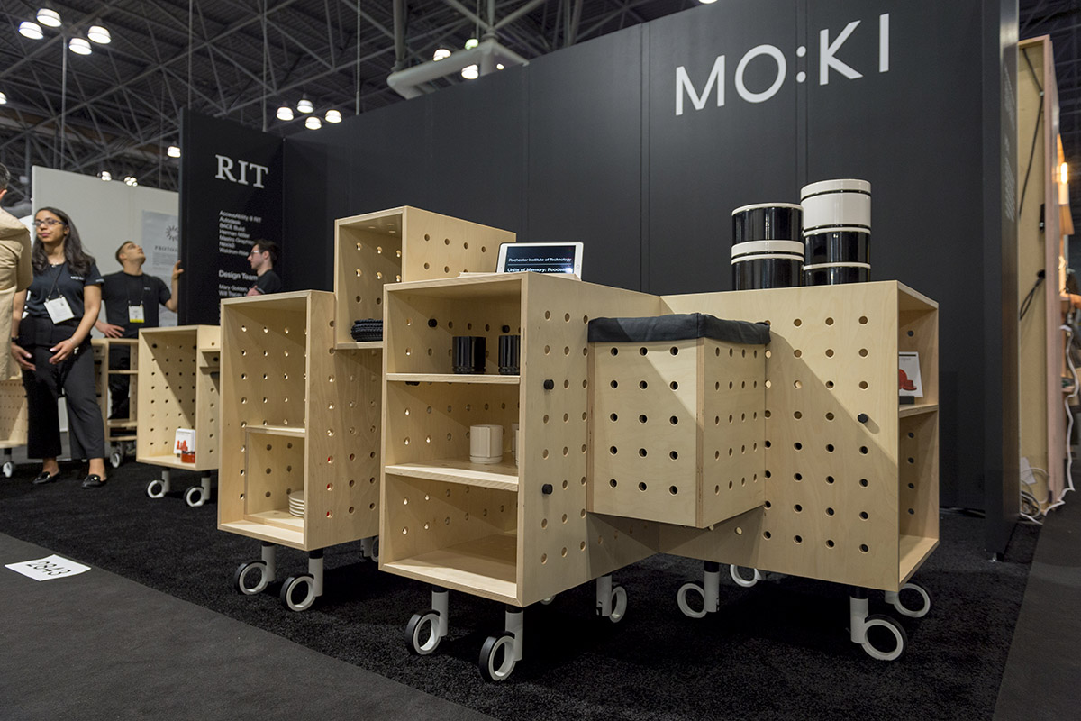 The Mobile Kitchen on the ICFF exhibit floor.