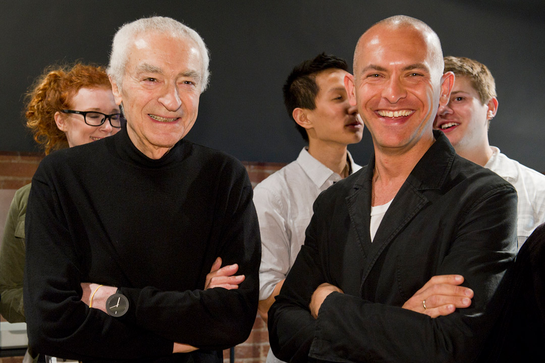 Massimo Vignelli and Josh Owen.