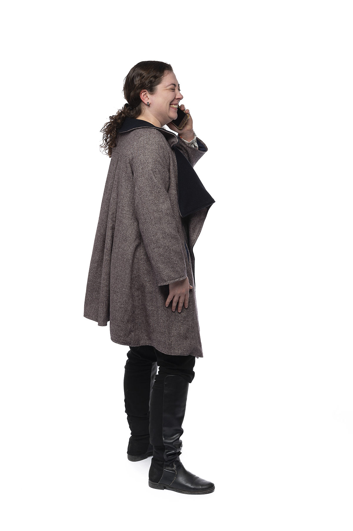 A functional clothing design of a winter coat.