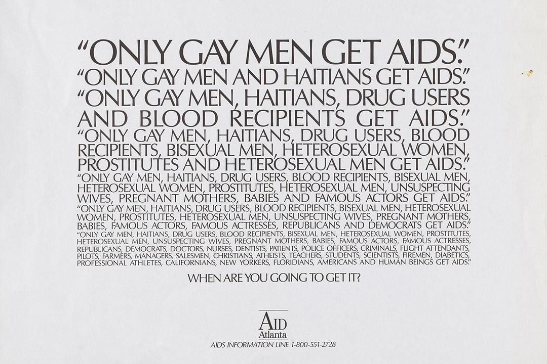 AIDS-awareness poster.
