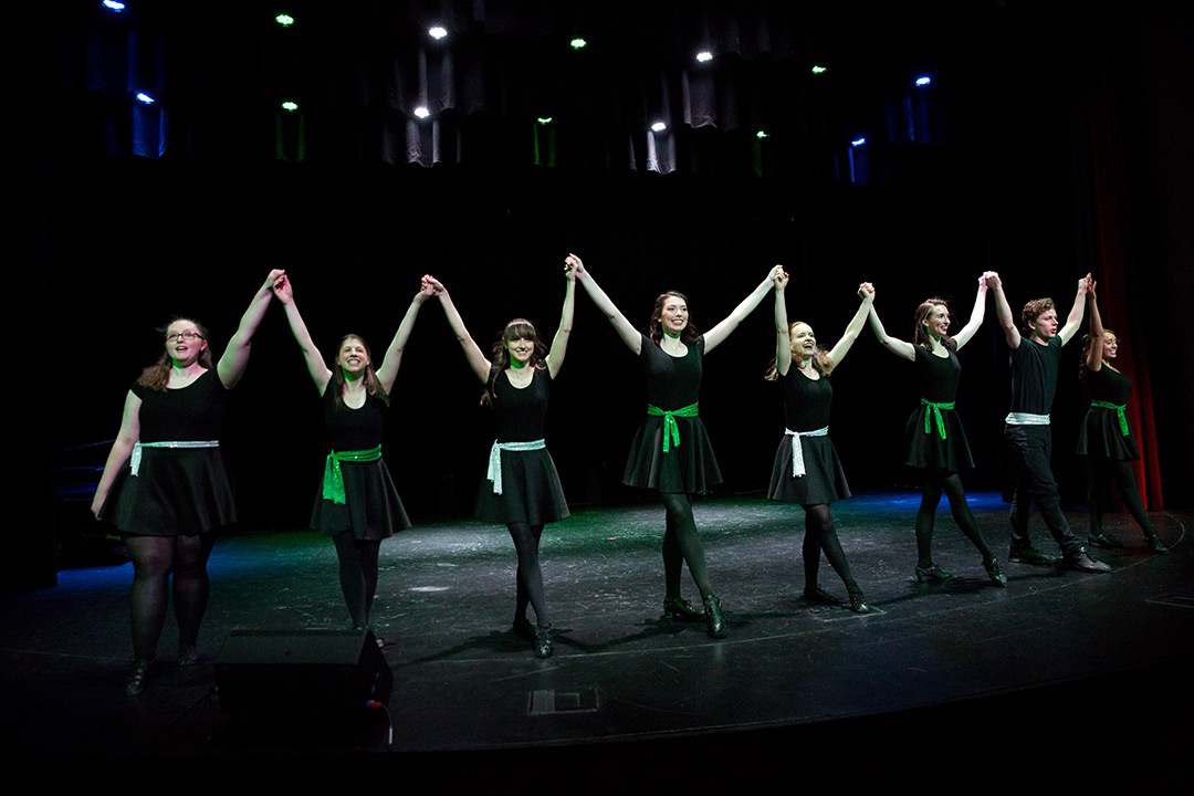 Irish dance group performs.