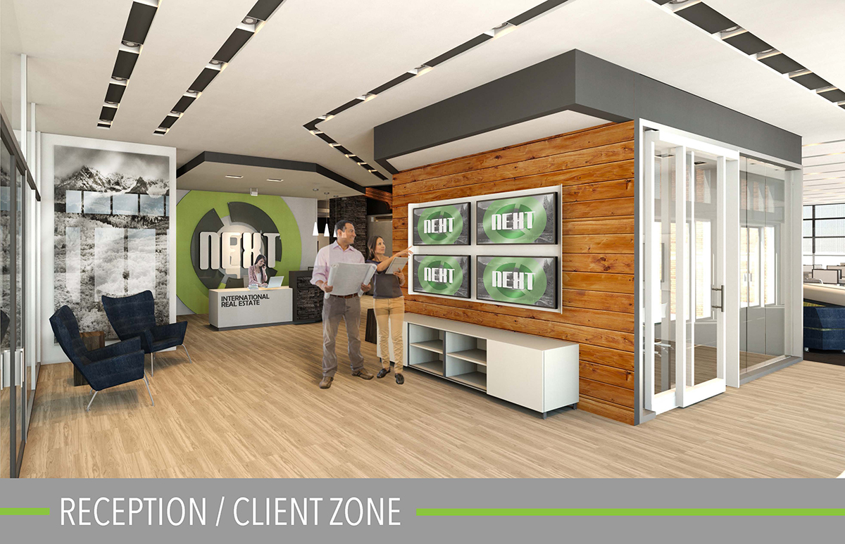 reception/client zone